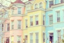 PASTEL / Pastel colours and sugary shades of buildings, sweets, objects and hair is colours from mint green, baby blue, soft pink and lilac.