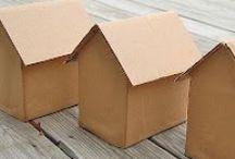 boîtes de carton / bricolages et recyclages
