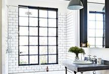 INTERIORS | Bathrooms / From clean spacious bathrooms to space-saving tips, tiles, baths, lights, decor