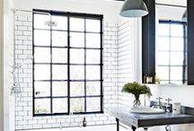 INTERIORS | Bathrooms / From clean spacious bathrooms to space-saving tips, tiles, baths, lights, decor