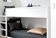 INTERIORS | Kids Bedroom / Ideas for kids bedrooms, fun prints, wall colours, organisation tips, bed frames, textiles...