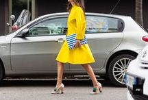 FASHION: YELLOW / Fashion dedicated to all tones of yellow, dresses, skirts. coats, shirts, trousers