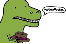 T-Rex's problems / Love dinosaurs with little arms.  / by montserrat r