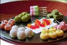 Wagashi Confection / Wagashi (和菓子 wa-gashi) is a traditional Japanese confectionery that evolved into an art form in the ancient Imperial capital, Kyoto. The character pronounced 'wa' denotes things Japanese, while the characters for 'gashi', an alliteration of kashi, have come to mean confections. It's often served with a bowl of matcha green tea in the Japanese tea ceremony. / by Yumina Tokyo