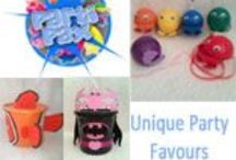 Party Packs & Favours / Find goodie bags, boxes, packets, money box party packs for those party favours. Or companies that create artistic party invites.