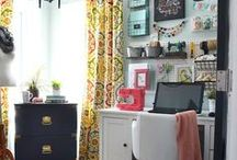 Home office and desk space / Home office decor and office storage, desk accessories and workspace decor