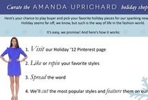 Curate Holiday '12 Shop Page / Here's your chance to play buyer and pick your Holiday 2012 favorite pieces for the Amanda Uprichard website. Repin or like the styles you like, tell a friend, and we'll make the most popular items. Have fun!!!