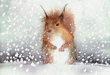 * squirrels *