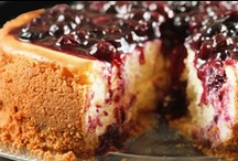 cheesecakes and tortes / Who doesn't love a good cheesecake. I always bake mine in a water bath to help avoid cracked tops. / by Anna Stutzman