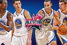 NBA All-Star 2013 / David Lee: 2013 NBA Western Conference All-Star | Klay Thompson & Harrison Barnes: 2013 BBVA Rising Stars Challenge | Stephen Curry: Foot Locker Three-Point Contest