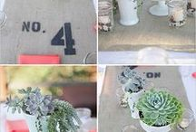 Table Numbers/Seating Cards