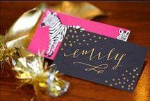 calligraphy / invitations / by emilia igartua