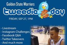 TweediaDay 2013 / Tweedia Day is the social media branch of Media Day in which popular social networks are used to connect Warriors fans with the team they passionately support.   warriors.com/tweediaday / by Golden State Warriors