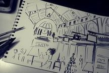 Melbourne sketch book / Illustrations & drawings for Melbourne, VIC AUS