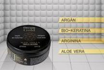 Nuestros productos / Estos son todos nuestros productos, dedicados al cuidado facial y del cabello. Con Oro de 24K, Pycnogenol, Phytocell y Aceite de Argán.