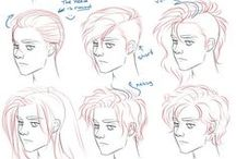 Drawing HAIR / Here you can find hairstyle tutorials. Become better at drawing!