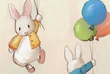 Bunny Rabbit Art / Prints, drawings, paintings, photographs of bunny rabbits