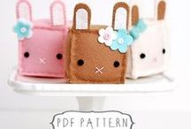 Craft a Rabbit / DIY patterns and supplies to make your own bunny rabbit themed items