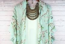 Color | Minty Fresh / Pastel green in seafoam, mint, aloe, seaglass, soft jade ... serene and calm light greens ...