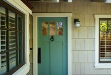 shingles and shutters and doors. / by Lindsay @ Hello Hue