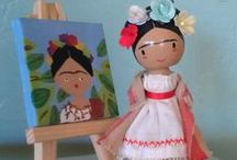 """Peg and Clothespin Dolls / Old or new, plain or fancy, these diminutive dolls have a charm that dolls over 6"""" can't quite match."""