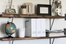 Home Ideas: Craft & Office / An office that you can craft and work in is possible! Check out my inspiration for my office here.