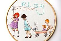 embroidery hoops / by Petra Jancovicova