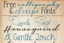 Printables/Fonts / This fun board is full of free printables and funky fonts!