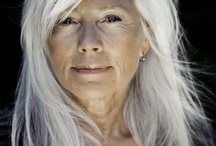 Embracing Silver / Aging with grace and strength.  Beauty. Grey hair.  Inspiring women.