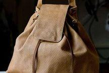Plecaki / Plecaki ze skóry, plecaki z tkaniny łączone ze skórą naturalną.