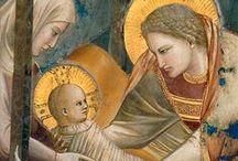 Maria è nostra Madre.../ Mary is a Mother to us... / ... de le bracia li fè manto cum grandissimo fervore.- Poi la Madre Gloriosa, stella clara e luminosa, l'alto sol, desiderosa, lactava cum gran dolzore.-   Laudario di Cortona
