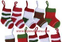 Navidad (Christmas) / Tutoriales completos para decorar la casa en época navideña! Knitted Christmas! / by Tejiendo Perú