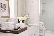 Bathroom Dreamin' {Bathroom Inspiration} / Amazing bathroom inspiration.  I have a thing for bathroom design.