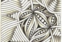 ZenTangle / Zentangle, Mandelas, Doodles, Line Drawing, Art, Design / by Violet Althouse