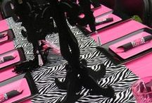 Zebra Print & Hot Pink Birthday Party Inspirational Board