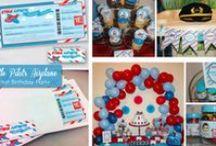 Little Pilot - Airplane Birthday Party Theme Inspiration / Little Pilot Birthday Party, Modern Airplane Inspired Birthday Party Theme - Inspirational Board.