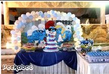 Smurf Birthday Party Inspirational Board