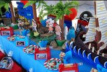 Nautical Pirate Ship or Jake and the Neverland Pirates Inspired Birthday Party