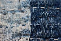 denim / Denim blue jeans fabric