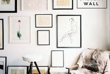 Gallery Walls and Books / I've always admired walls filled with art and books