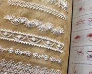 Tapestry of stitches... / being a board about the sample books of stitches.