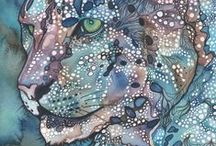 Snow Leopard Art From Fans / Beautiful artwork of snow leopards from fans!