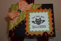 Cards(Halloween& Autumn) / Handstamped Halloween and Autumn themed cards. I think they are my favorite to create! / by Helen Senesac