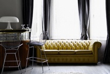 living room / Tufted couch 1930's / by Jonelle Maira