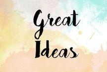 Wonderful ideas!!