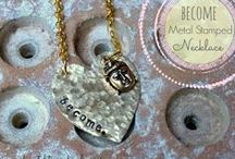 Metal Stamped Jewelry / For the love of metal stamping!