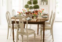 Comfy Home~Dining / Sharing some inspirational ideas to help us create a inviting dining area.