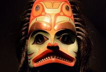 Masks / Grotesque, beautiful, humorous; constructed of wood, metal, jade, gold, silk or straw: masks have been used in every world culture to convey the mysterious, the forbidden and the spiritual aspects of our humanness. / by Christine Licker