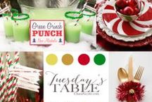 Tuesday's Table / Inspiring Color Palettes.  Some tables designed by Chara Nicole others created using inspiring photos found online.
