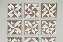 Barn Quilting / Create Quilting Block designs with paint on wood!
